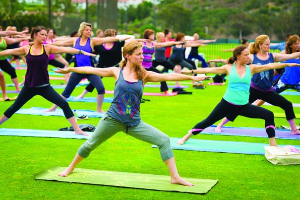 Yoga at Omni La Costa Resort & Spa, California