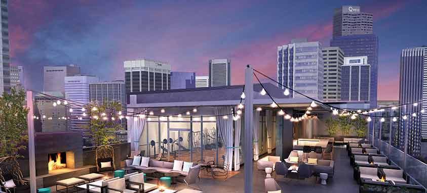 Amenity Deck at Le Meridien/AC Hotel Denver Downtown
