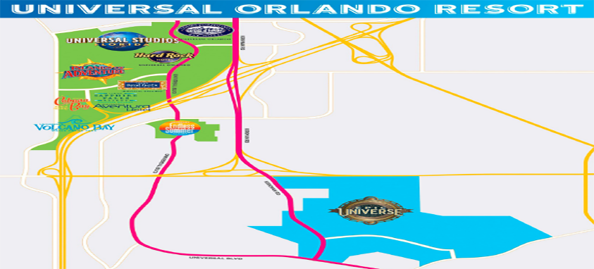 Map of Universal Orlando Resort